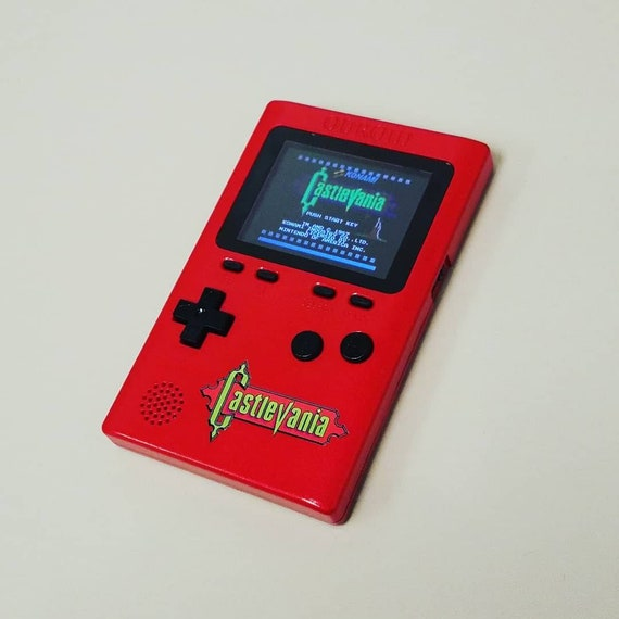 Custom Hand Painted CASTLEVANIA Odroid-GO - Bloodstained Red - Game Boy  Clone Emulator with SD Card