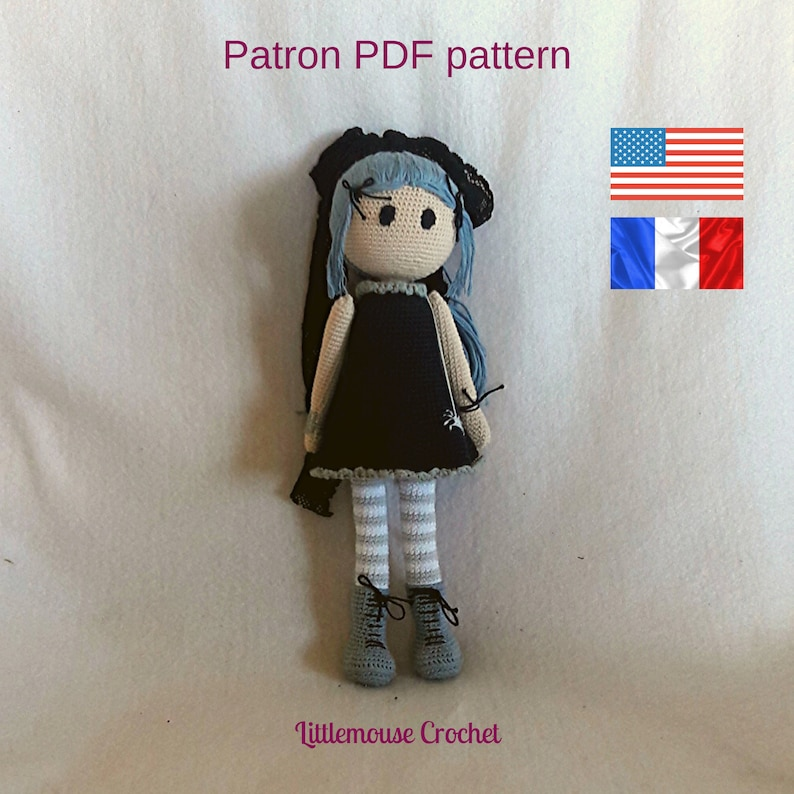 Olivia doll crochet pattern image 0