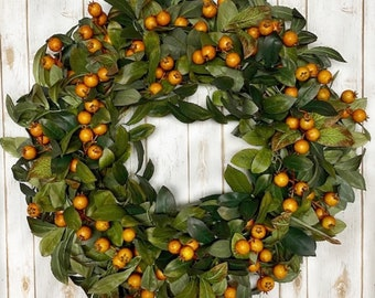 Ships Fast   Fall Wreath for Front Door   Fall Wreath   Thanksgiving Wreath   Autumn Wreaths   Fall Berry Wreath   Pumpkin Wreath  
