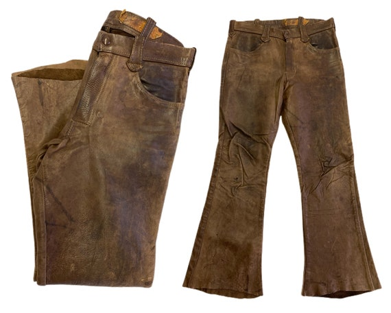 1960's East West Leather Vintage Bell Bottoms 30/2