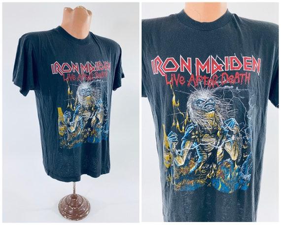 Vintage Iron Maiden Live After Death Shirt 1980s … - image 1
