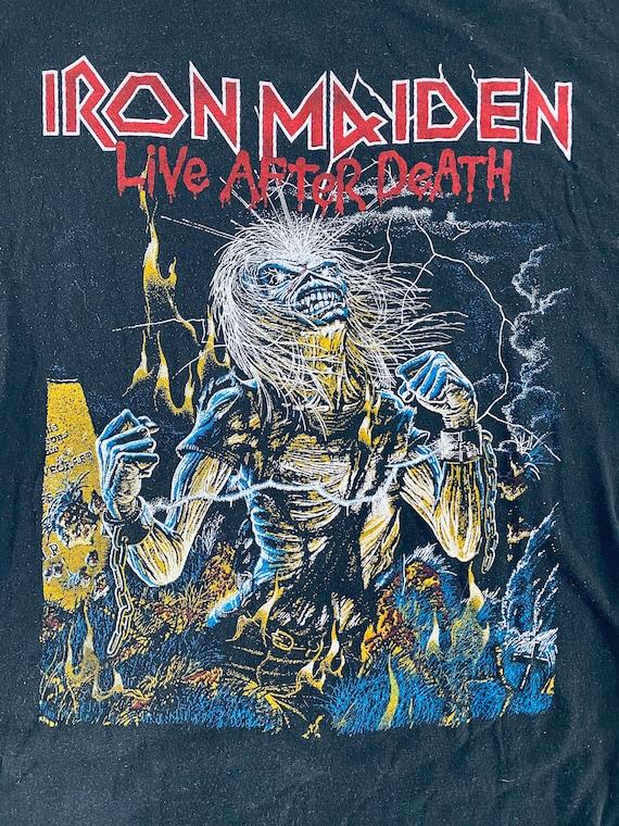 Vintage Iron Maiden Live After Death Shirt 1980s … - image 10