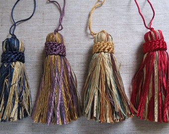 "Colourful Tassels x 2 with Silver detailing Tassel 3 1//4/"" 8cm **21 COLOURS***"