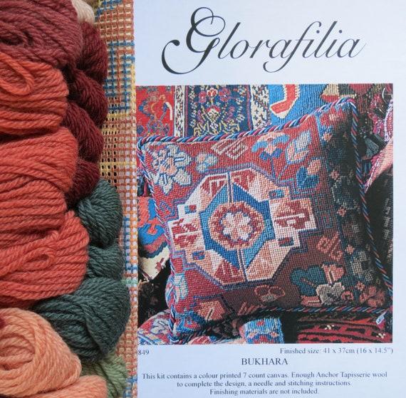 Terracotta Glorafilia Tapestry//Needlepoint Kit Kelim