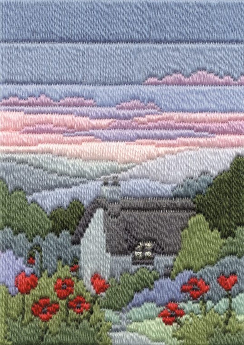 Winter Long Stitch Kits Summer Four Seasons in Long Stitch Tapestry; Spring Seasons Evenings Long Stitch Kits Autumn