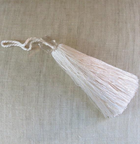 Glands de perles - pompons soyeux décorative garniture décorative soyeux - clé pompons - coussin passementerie - 115mm-perles à facettes, 7 couleurs magnifiques - lot de 4 55f1a7