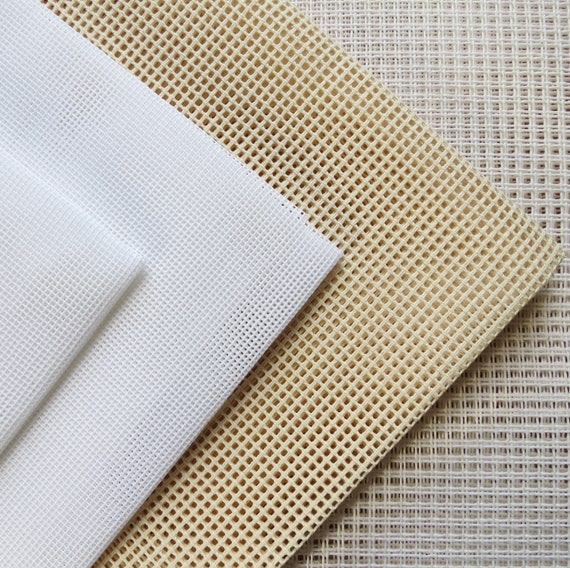 various size options White 18 Count Zweigart Interlock Mono Tapestry Canvas