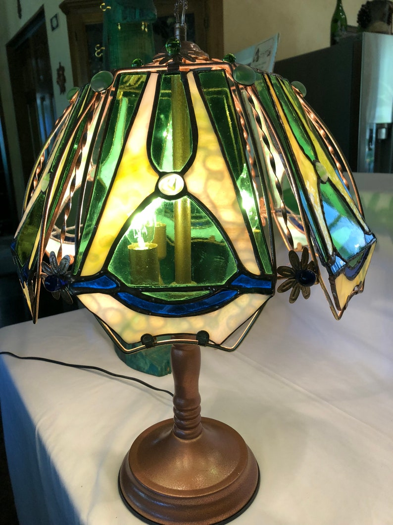 Stained Glass Table Touch Lamp