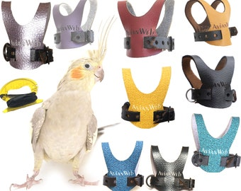 Avianweb Bird Harness with 6 ft leash - Specifically sized for Cockatiels
