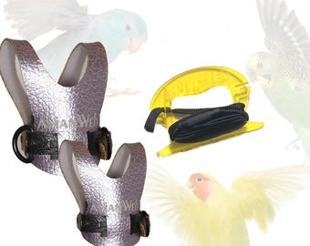 Avianweb Small Bird Harness Set with 4ft Leash for Lovebirds, Parrotlets, Budgerigars