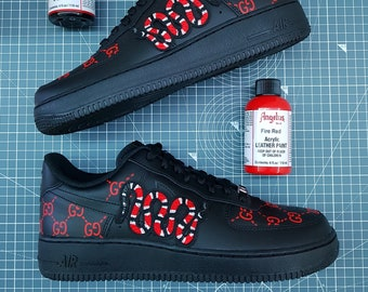 15052050e7225b Custom Air Force 1 - Gucci GG Snake
