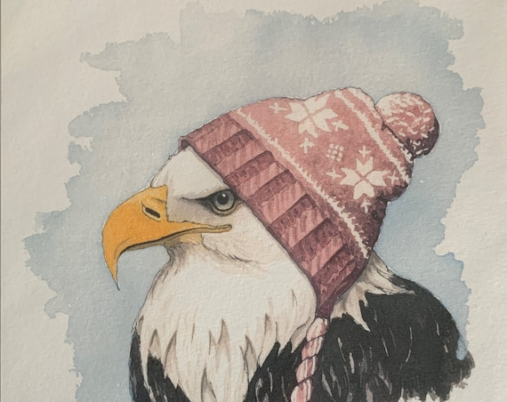 Print - Eagle with hat