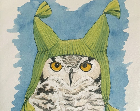 Print - Great Horned Owl
