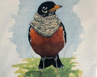 """8"""" x 10"""" Robin Bird Print"""