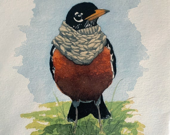 Print - Robin with cowl