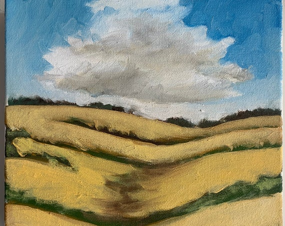 "8""x8"" Original PEI Landscape Painting"