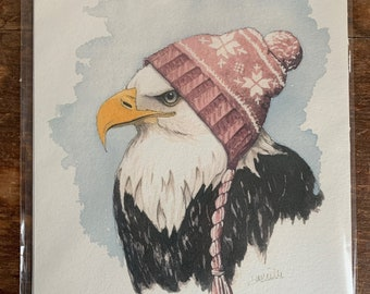 "8"" x 10"" Bald Eagle Bird Print"