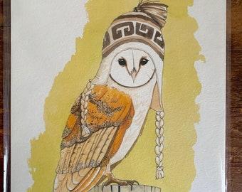 """8"""" x 10"""" Barn Owl Bird Print"""
