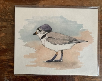 "8"" x 10"" Piping Plover Bird Print"