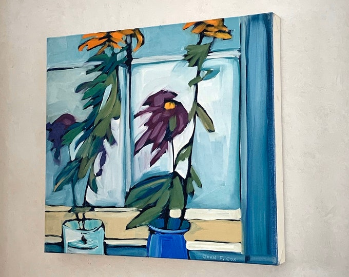 """16""""x18"""" Original Oil Painting- Still Life with Flowers"""