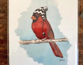 """8"""" x 10"""" Cardinal Bird Print"""