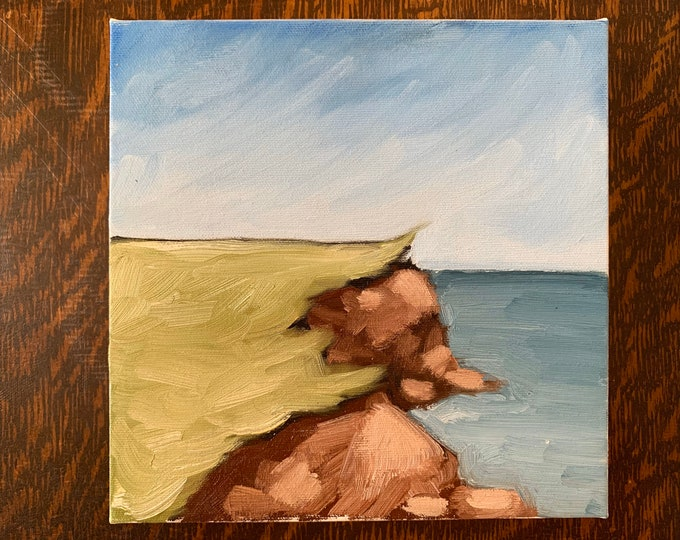 "Featured listing image: 8""x8"" Original PEI Landscape Oil Painting"