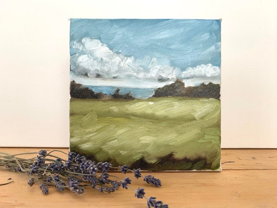 "6""x6"" Original PEI Landscape Painting"