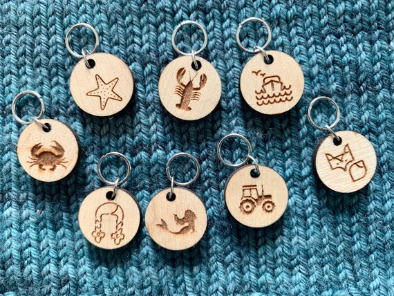 PEI-themed Stitch Markers