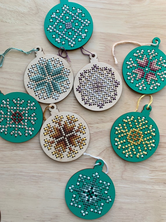 DIY Embroidered Ornament Kit