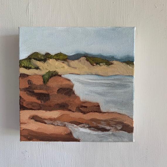 """6"""" x 6"""" oil painting PEI landscape"""