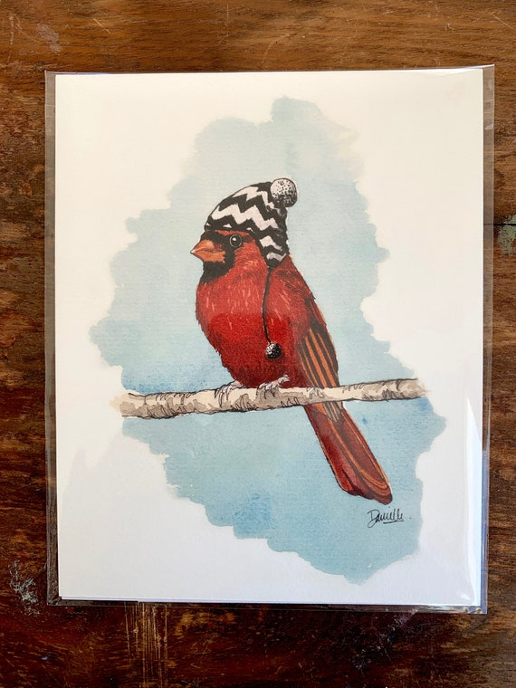 Print - Cardinal with hat