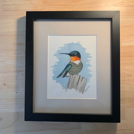 Original Watercolour Bird Painting - Birds of a Sweater