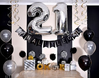 21st Birthday Decorations For Him Etsy