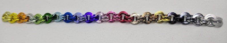 Black IceRed Byzantine Square Chainmail Bracelet