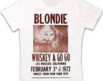 870dde5e Whiskey A Go Go Blondie Poster 70s Retro T Shirt 586