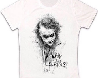 735fc338 Joker Sketch Gotham Why So Serious Retro T Shirt 149