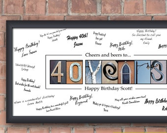 40th Birthday Gift For Him Men Idea Sign Decorations
