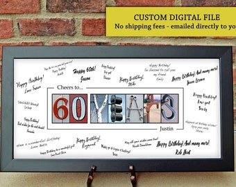 60th Birthday Gift For Men Party Guest Book Decoration Ideas