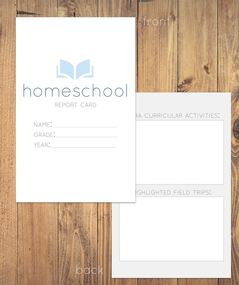 image relating to Printable Homeschool Report Card identify Printable Homeschool Posting Card Homeschool Elements Historical past Trying to keep  University Grades