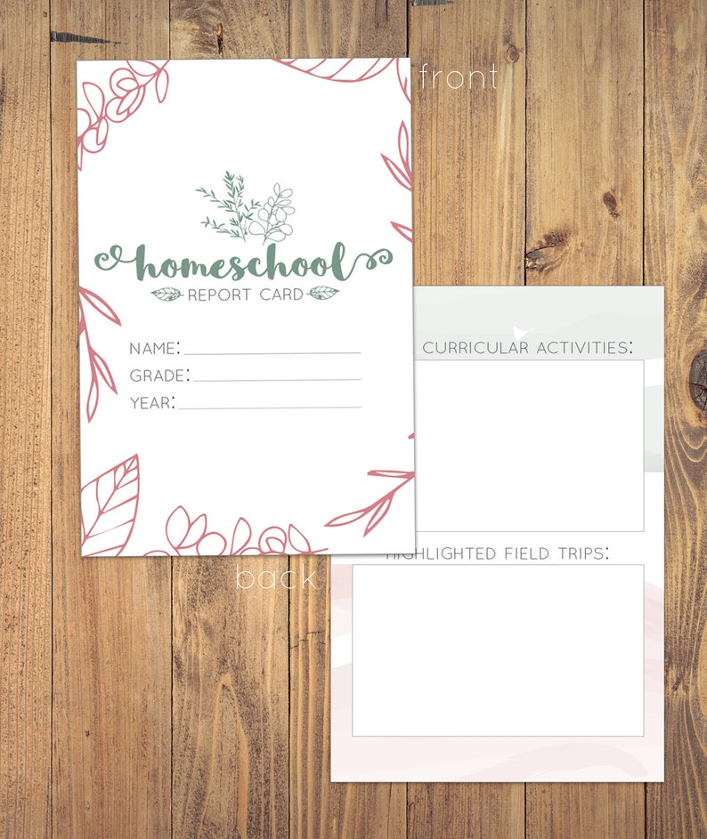 picture about Printable Homeschool Report Card identified as Printable Homeschool Short article Card Homeschool Products Heritage Maintaining  Higher education Grades