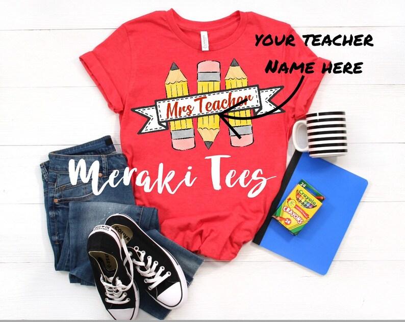 Teacher tshirt with custom name