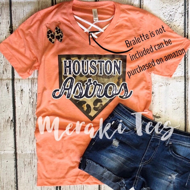 buy popular 8e297 304d3 Screen printed leopard Houston Astros tshirt ships out whithin 2 DAYS!