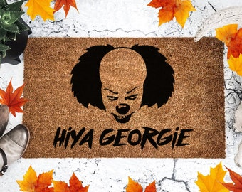 Hiya Georgie - It - Horror Movie - Halloween - Doormat