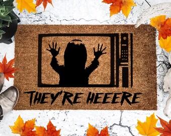 Poltergeist - They're Here - Doormat - 80's - Horror -