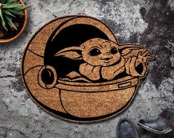 The Original Baby Yoda Shaped Doormat - The Mandalorian - Star Wars - Disney - Shaped Doormat