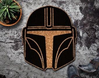 The Original Mandalorian Shaped Doormat - The Mandalorian - Star Wars - Baby Yoda - Disney - Doormat