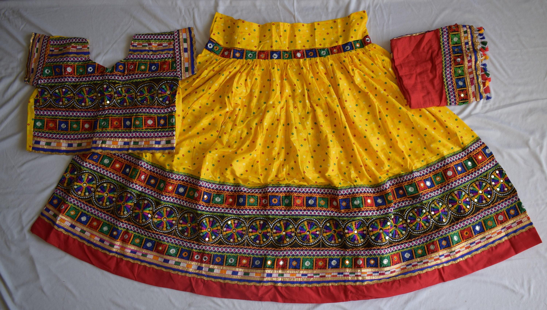 Beautiful Special Navratri  Kutchi work lehnga  readymade choli With dupatta