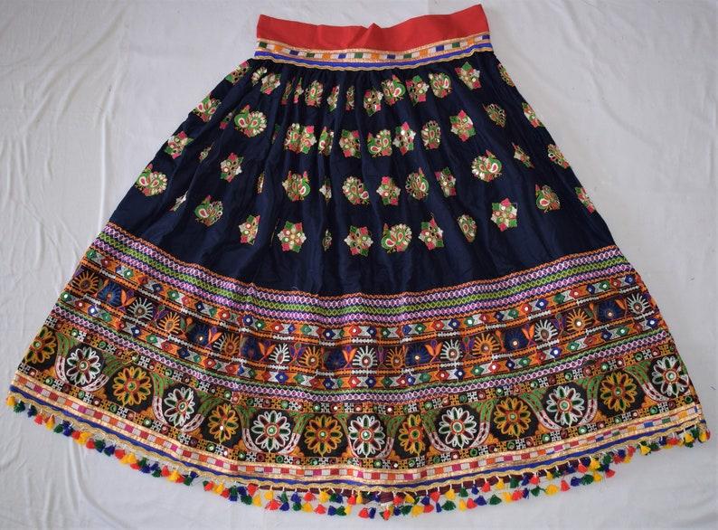 2019 Traditional Navratri Festival Costume-Designer Hand Embroidered  Lehenga-Peacock Embroidered-Garba Ghagra Choli-Navratri Lehenga Choli