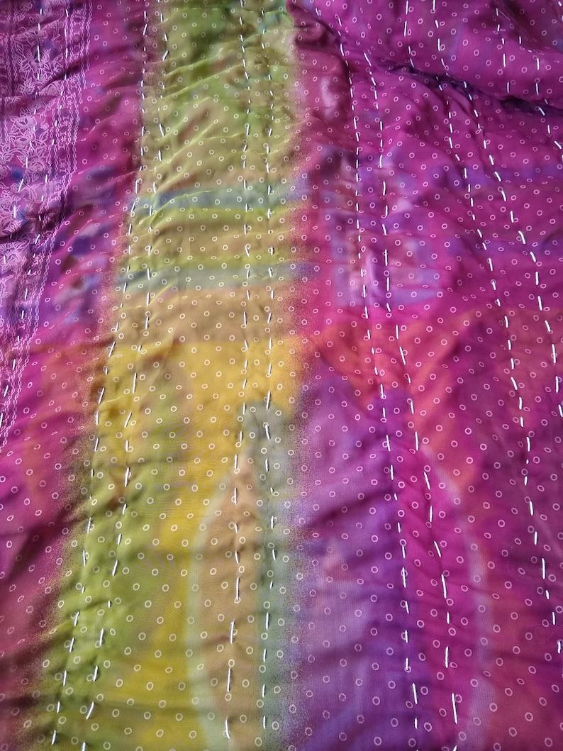 Bohemian Blanket,Kantha Quilt Handdruck,Courtepointe Quilt,Baltimore Quilt,Indian Handmade Special Quilt,Kantha Throw,Plaid Vintage,Winter