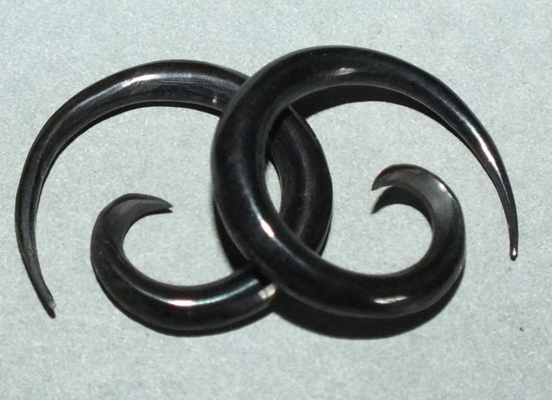 Small Hand Carved Folk Buffalo Horn Gauge Earring from Indonesia FREE SHIPPING